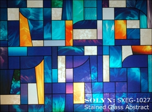 solyx stained glass abstract a beautifully colored and pvcpet decorative stained glass film each pattern repeats at 29u2033 high x 36u2033 wide