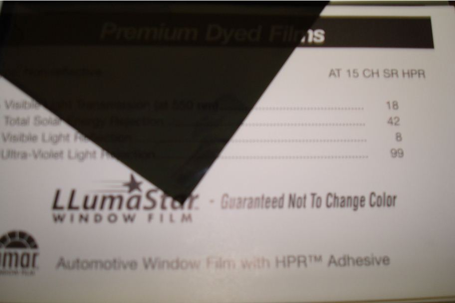 All American Window Tinting Products Used Llumar Window