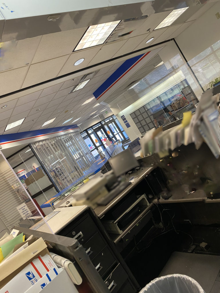 Post Office Service Counter